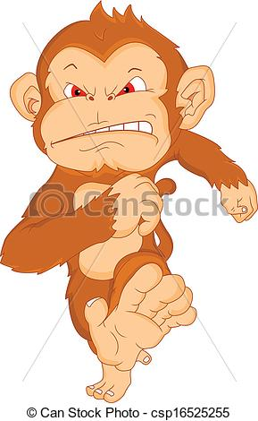 Angry monkey clipart clip transparent angry monkey cartoon clip transparent