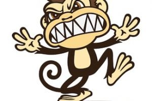 Angry monkey clipart
