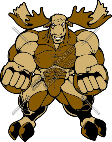 Angry moose clipart vector stock Angry Moose Clipart and Vectorart: Sports Mascots - Moose and Elk ... vector stock