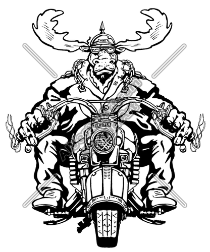 Angry moose clipart graphic freeuse stock moose Clipart and Vectorart: Vehicles - Motorcycles Vectorart and ... graphic freeuse stock