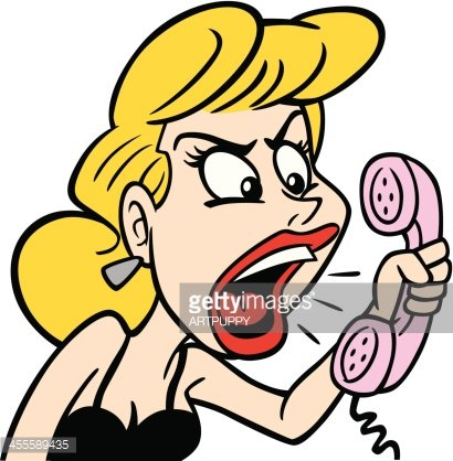 Angry on phone clipart freeuse download Angry Woman AT Phone premium clipart - ClipartLogo.com freeuse download