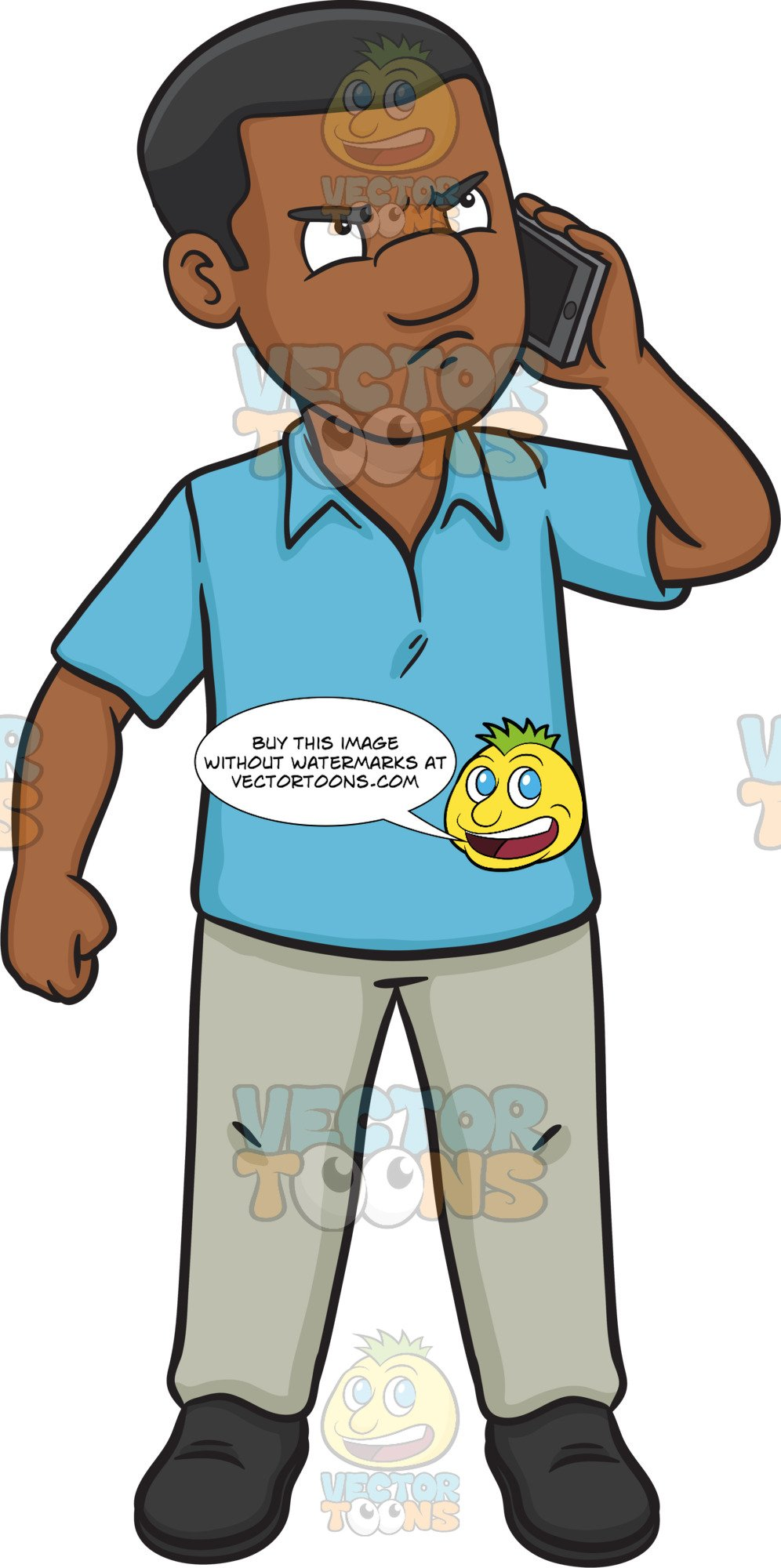 Angry on phone clipart graphic transparent An Upset Black Man Talking On The Phone graphic transparent