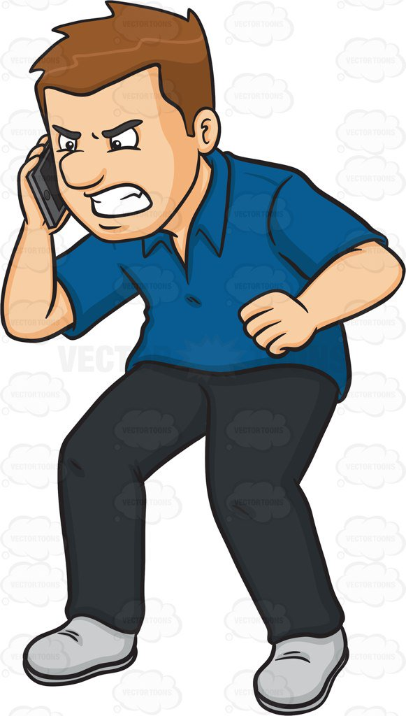Angry on phone clipart picture Angry person clipart 6 » Clipart Station picture