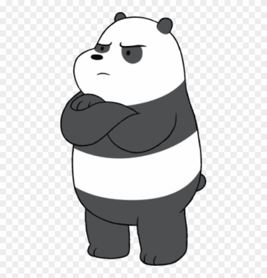 Angry panda clipart