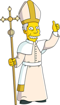 Angry pope clipart svg royalty free library Pope - Wikisimpsons, the Simpsons Wiki svg royalty free library