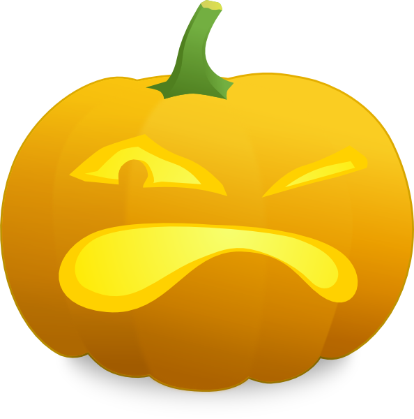Angry pumpkin face clipart jpg free library Angry Jack O' Lantern Clip Art at Clker.com - vector clip art online ... jpg free library