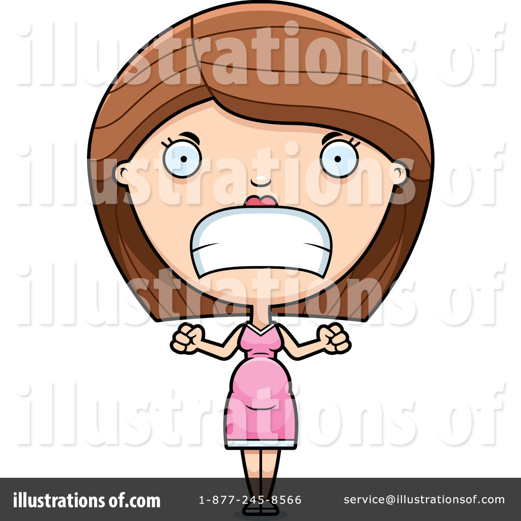 Angry sad woman clipart graphic royalty free Pregnant Woman Clipart #1212629 - Illustration by Cory Thoman graphic royalty free