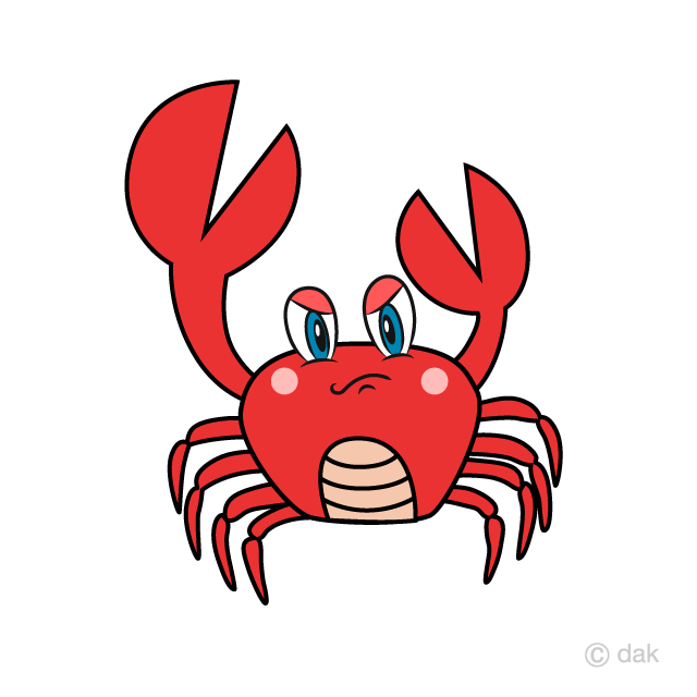 Angry squid clipart freeuse download Angry Crab Cartoon Free Picture|Illustoon freeuse download