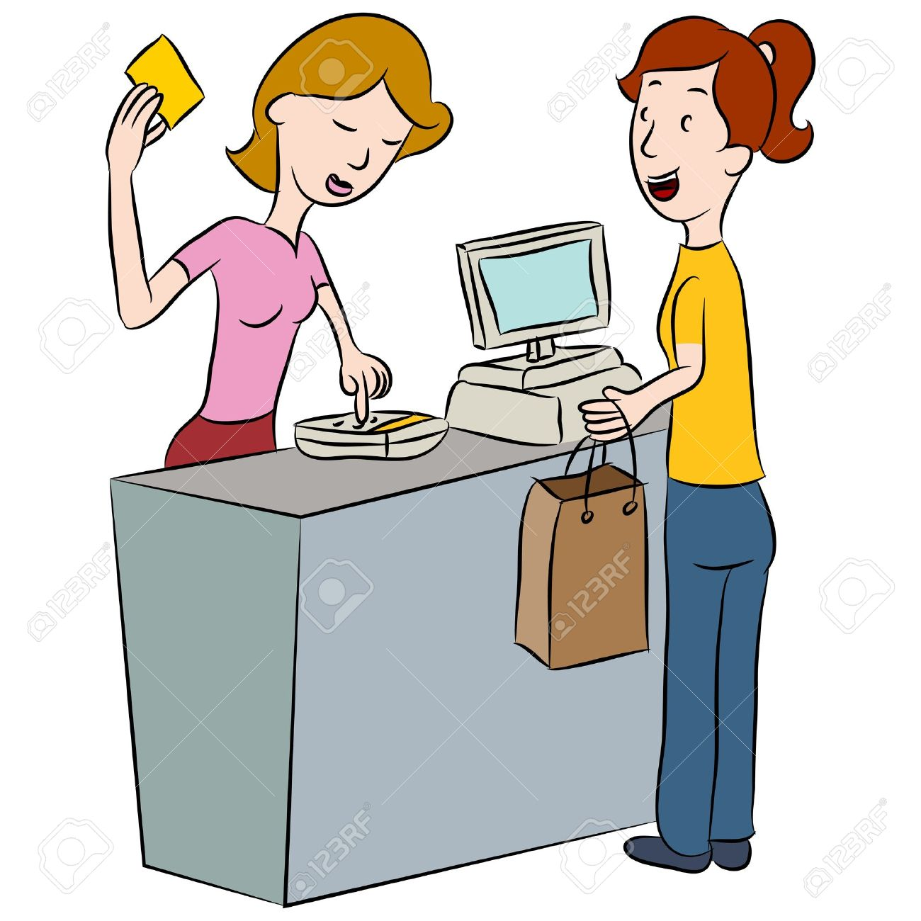 Angry store clerk clipart png library download Store clerk clipart - ClipartFest png library download
