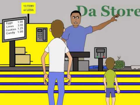 Angry store clerk clipart banner royalty free The Angry Cashier - YouTube banner royalty free