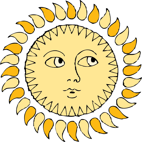 The sun with eyes and smile clipart svg free Sun Clip Art at Clker.com - vector clip art online, royalty free ... svg free