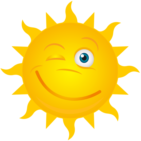 Angry sun clipart transparent image freeuse stock Ten obraz png - Winking Sun Transparent Clip Art Image, jest ... image freeuse stock