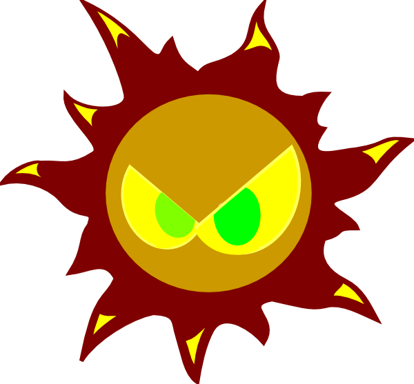 Angry sun clipart picture stock Angry Sun Clip Art at Clker.com - vector clip art online, royalty ... picture stock
