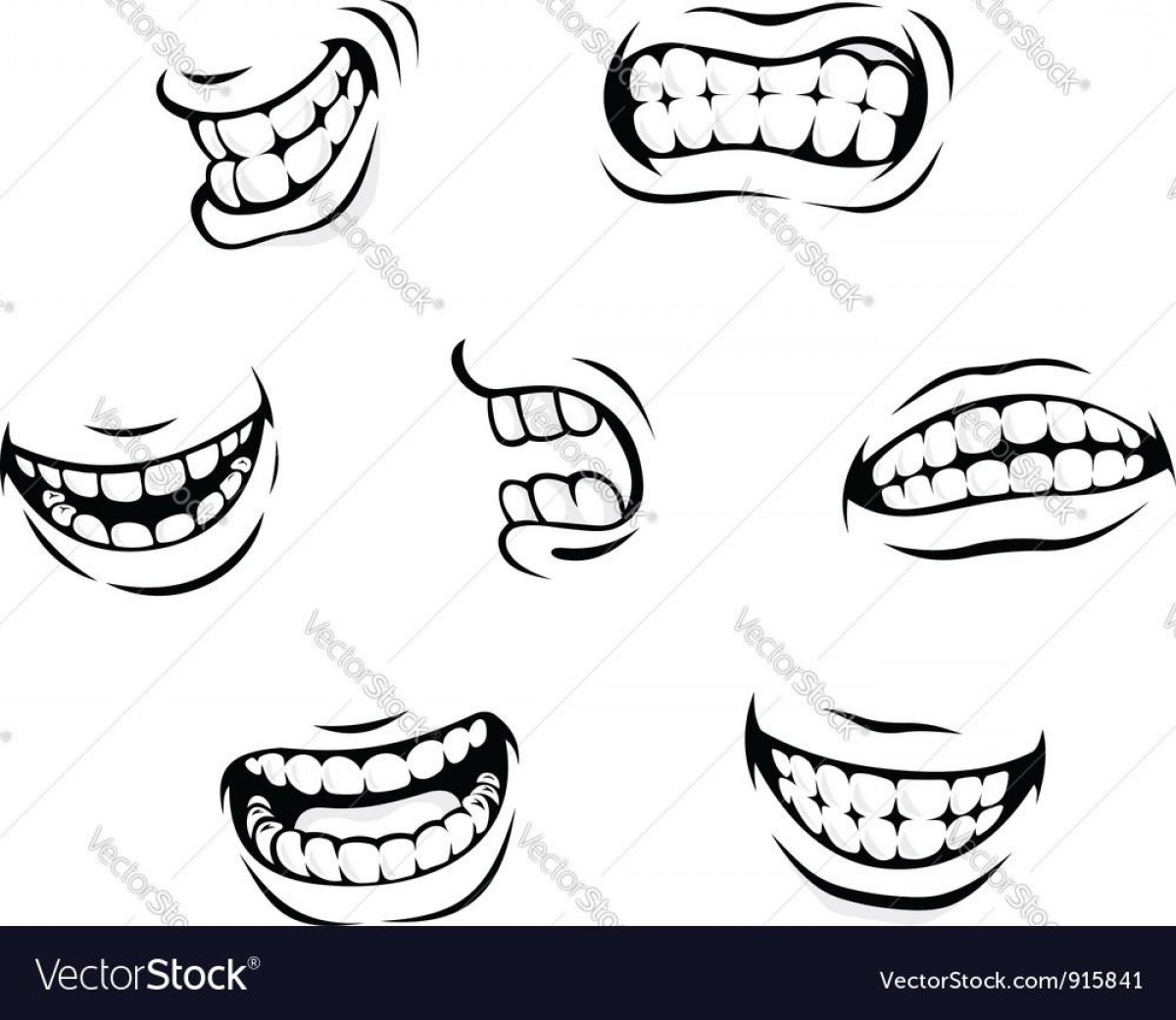 Angry teeth clipart clip art freeuse library Best Smiling And Angry Cartoon Teeth Vector Library   SOIDERGI clip art freeuse library
