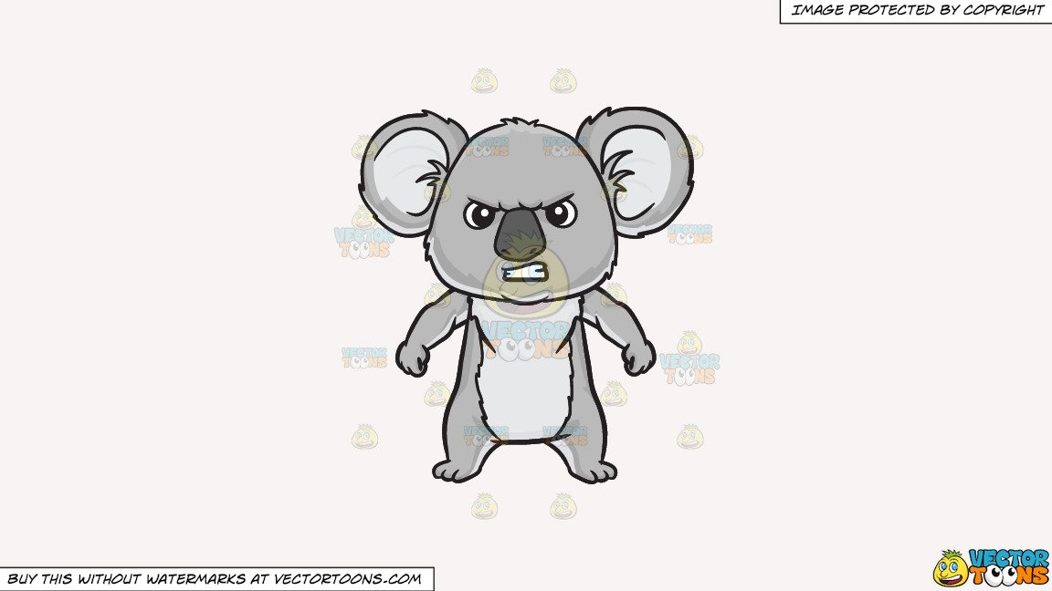 Angry teeth clipart graphic royalty free stock Clipart: An angry koala bear on a Solid White Smoke F7F4F3 Background graphic royalty free stock