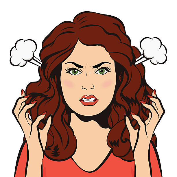 Angry woman pic clipart
