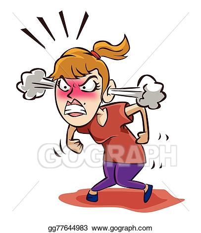 Angry woman clipart clip art transparent EPS Vector - Angry woman. Stock Clipart Illustration gg77644983 ... clip art transparent