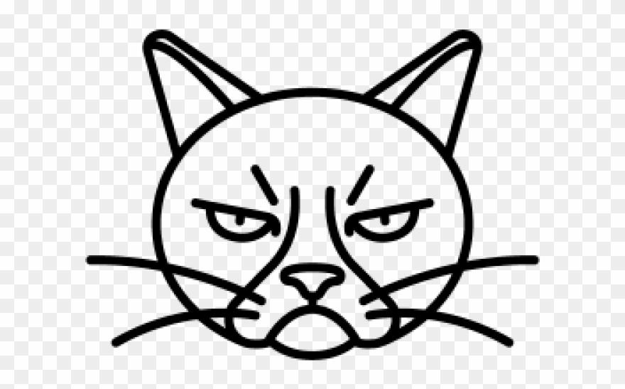 Angrycat clipart clip art stock Drawn Grumpy Cat Angry - Grumpy Cat Easy Drawing Clipart (#846131 ... clip art stock