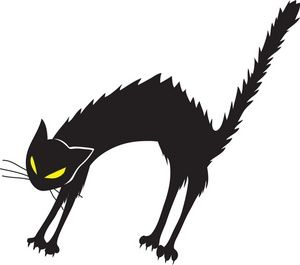 Angrycat clipart graphic royalty free stock Black Cat Clipart Image: Angry, hissing black cat with arched back ... graphic royalty free stock