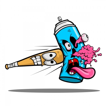 Angryspray paint can clipart