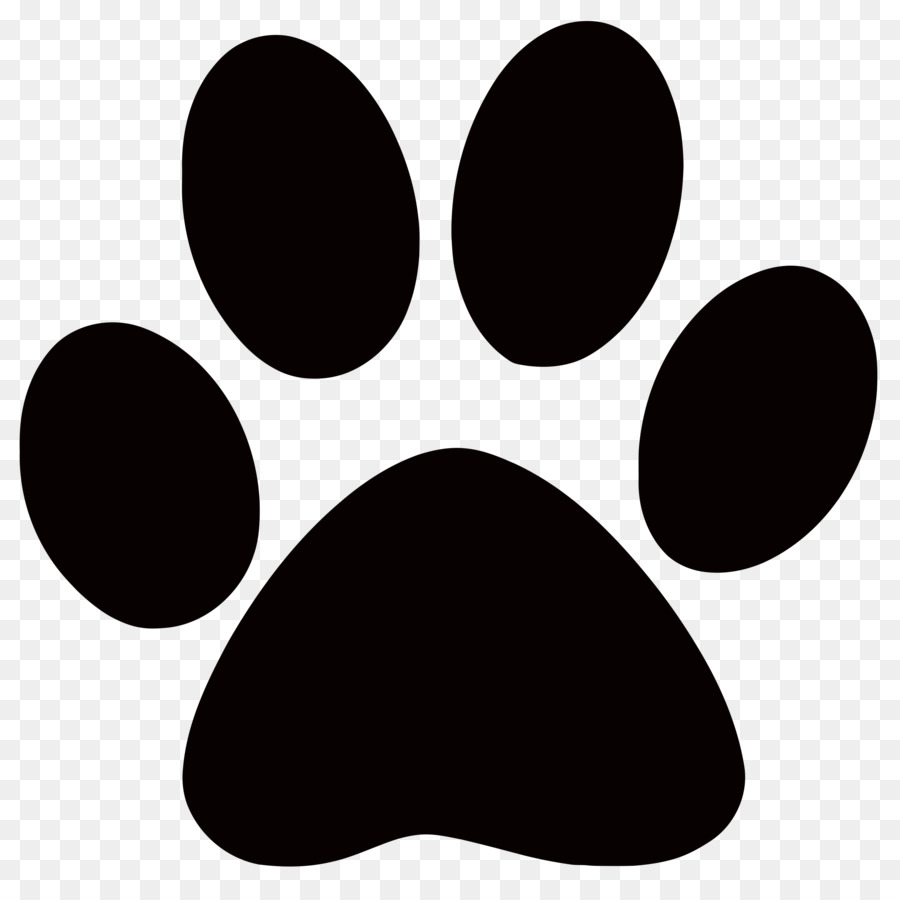 White dog paw print clipart transparent background picture free library Dog Animal track Footprint Paw Clip art - black paw prints png ... picture free library