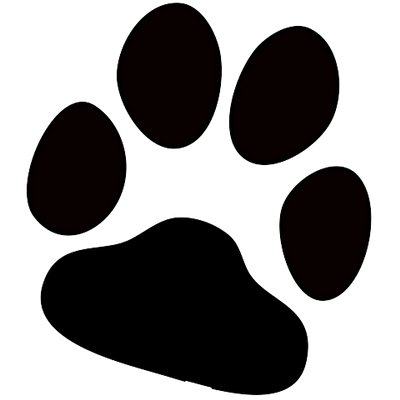 White dog paw print clipart transparent background graphic black and white Paw Prints transparent PNG images - StickPNG graphic black and white