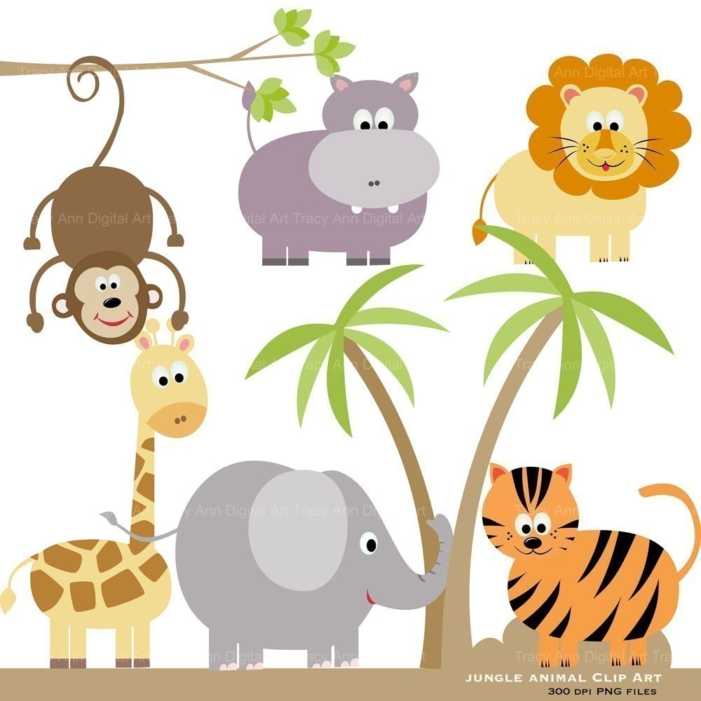 Animal babies clipart - ClipartFest svg library stock
