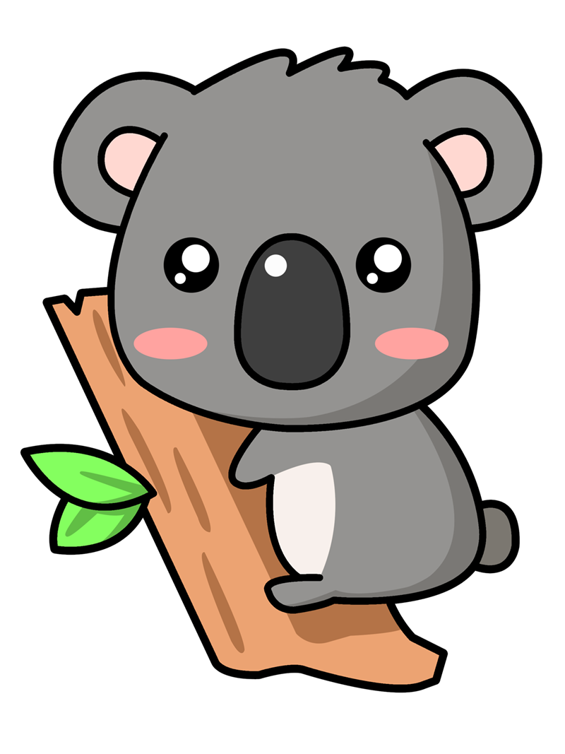Cartoon cute clipart image black and white download Cartoon Koala | iCartoonWallpapers.com | Koala in 2019 | Cartoon ... image black and white download