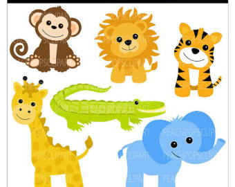 Baby safari animals free clipart banner black and white library Free Baby Animals Cliparts, Download Free Clip Art, Free Clip Art on ... banner black and white library