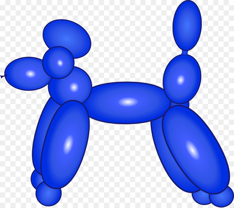 Animal balloon clipart graphic library library Black Balloon clipart - Balloon, Dog, Blue, transparent clip art graphic library library