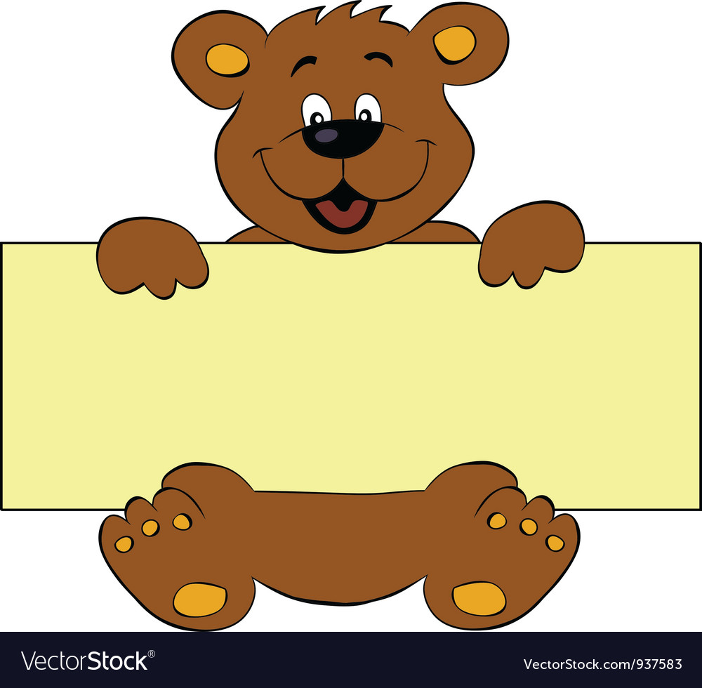 Animal banner clipart svg freeuse stock Happy bear with banner svg freeuse stock