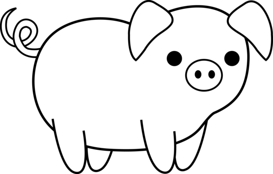 Black and white pig clipart clip art royalty free stock Free Black And White Animal Clipart, Download Free Clip Art, Free ... clip art royalty free stock