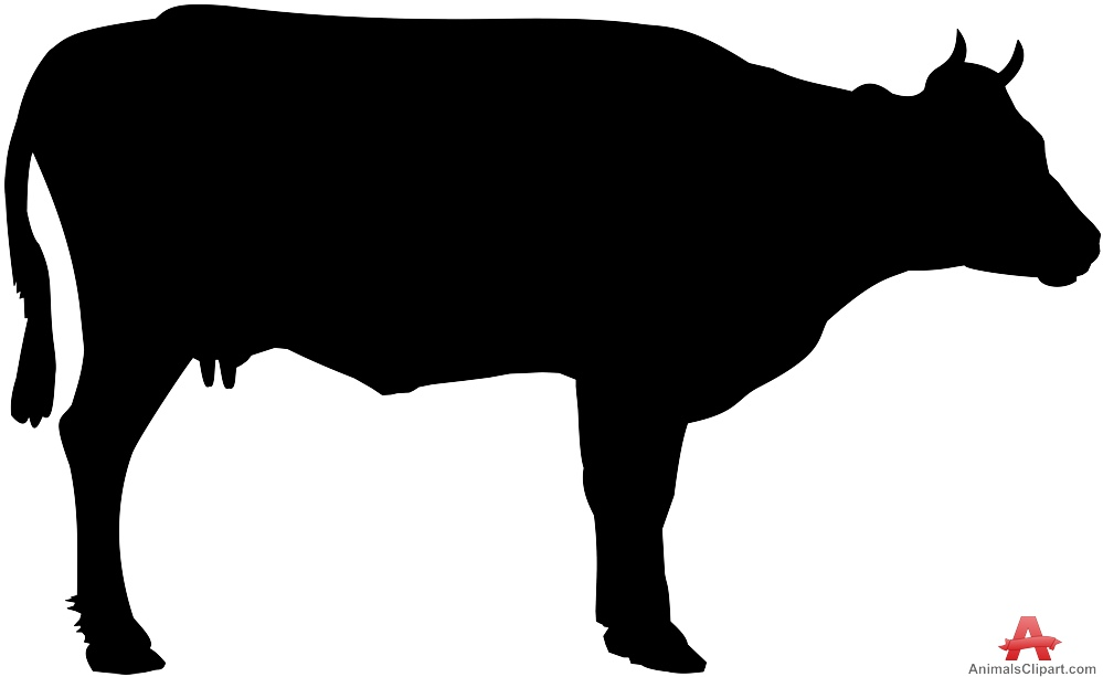 Animal black clipart graphic black and white download Animal cow clipart black silhouette free design download – Gclipart.com graphic black and white download