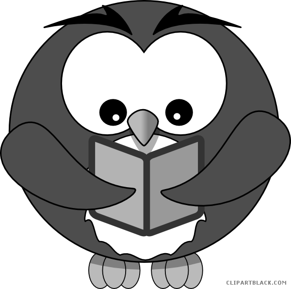 Owl book clipart jpg black and white stock Owl with Book Animal free black white clipart images clipartblack ... jpg black and white stock