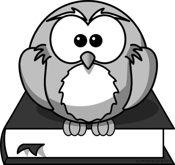 Animal book clipart graphic royalty free stock Owl on a Book Animal free black white clipart images clipartblack ... graphic royalty free stock
