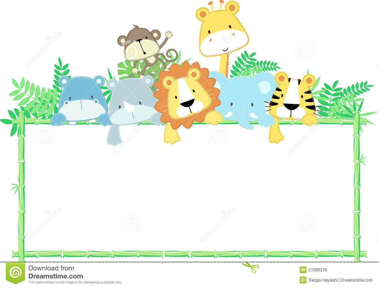 Animal borders clipart