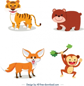 Free clipart wild animals clipart free Wild animal clip art free vector download (220,815 Free vector) for ... clipart free