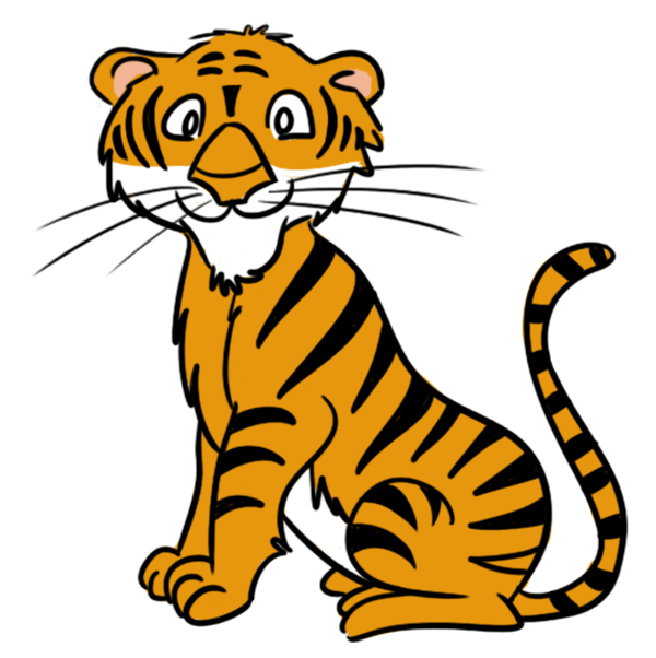Tiger clipart pic jpg black and white free cartoon clipart | clipart | Cartoon tiger, Free cartoons ... jpg black and white