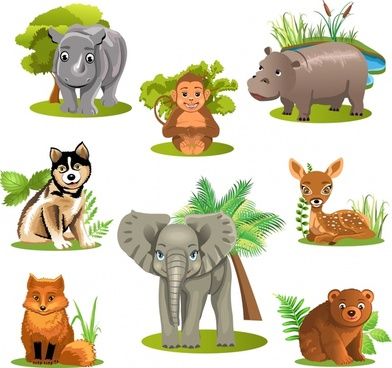 Wildlife clipart images graphic library download Wild animal clip art free vector download (220,815 Free vector) for ... graphic library download