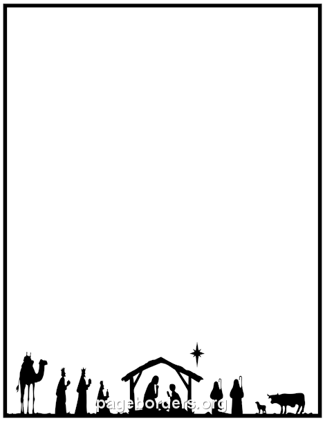 Animal christmas border clipart image free library Nativity Border: Clip Art, Page Border, and Vector Graphics | Merry ... image free library