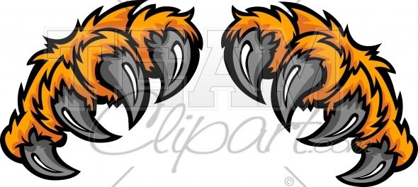 Animal claws clipart graphic stock Tiger Claws Clipart Cartoon Image. | Art- Murals/ Bulletin Boards ... graphic stock