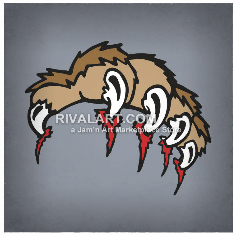 Animal claws clipart free Animal Claw Marks Paw-Claw-06-Mc free