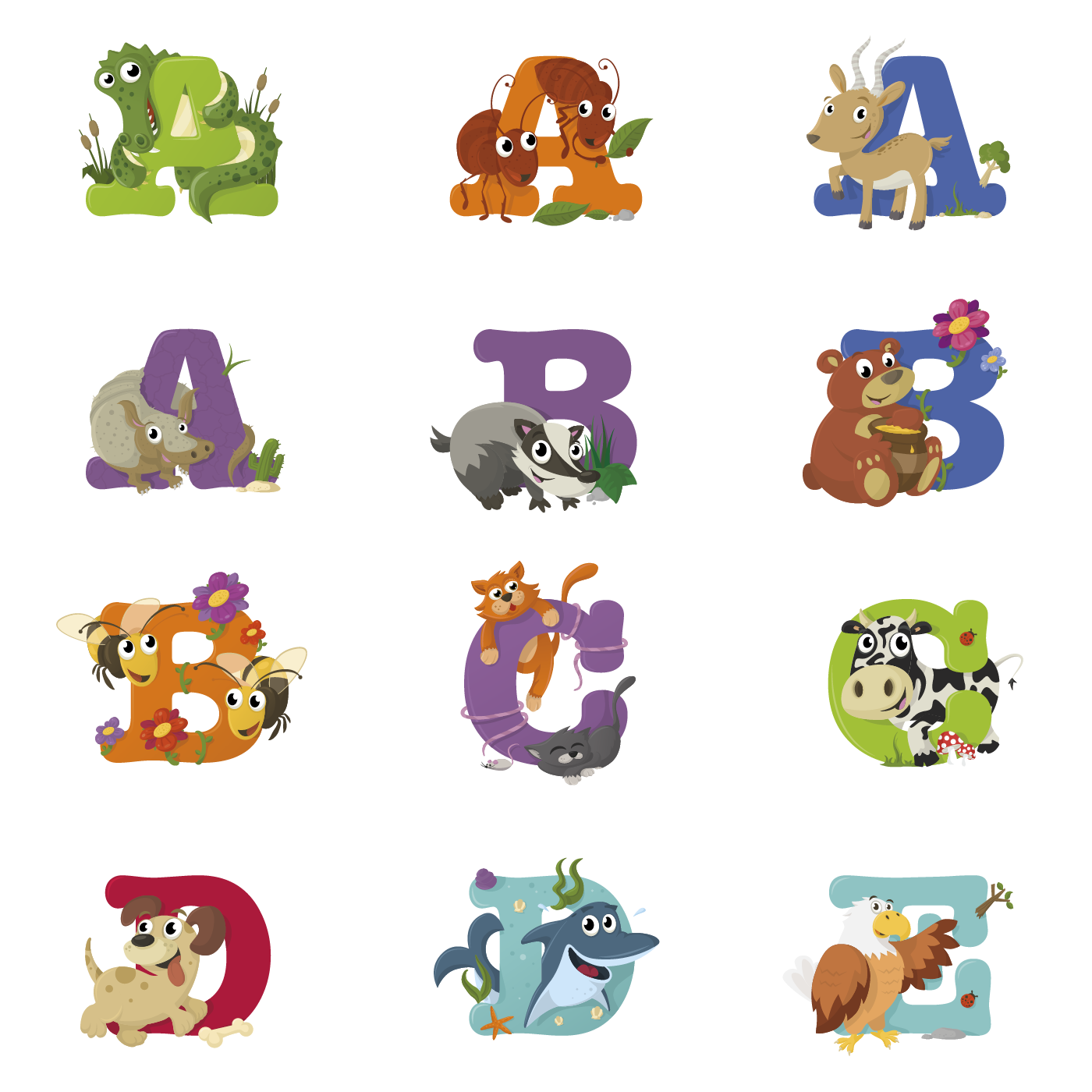 Animal clipart alphabet letters clip library bilmaw | Animal Alphabet clip library