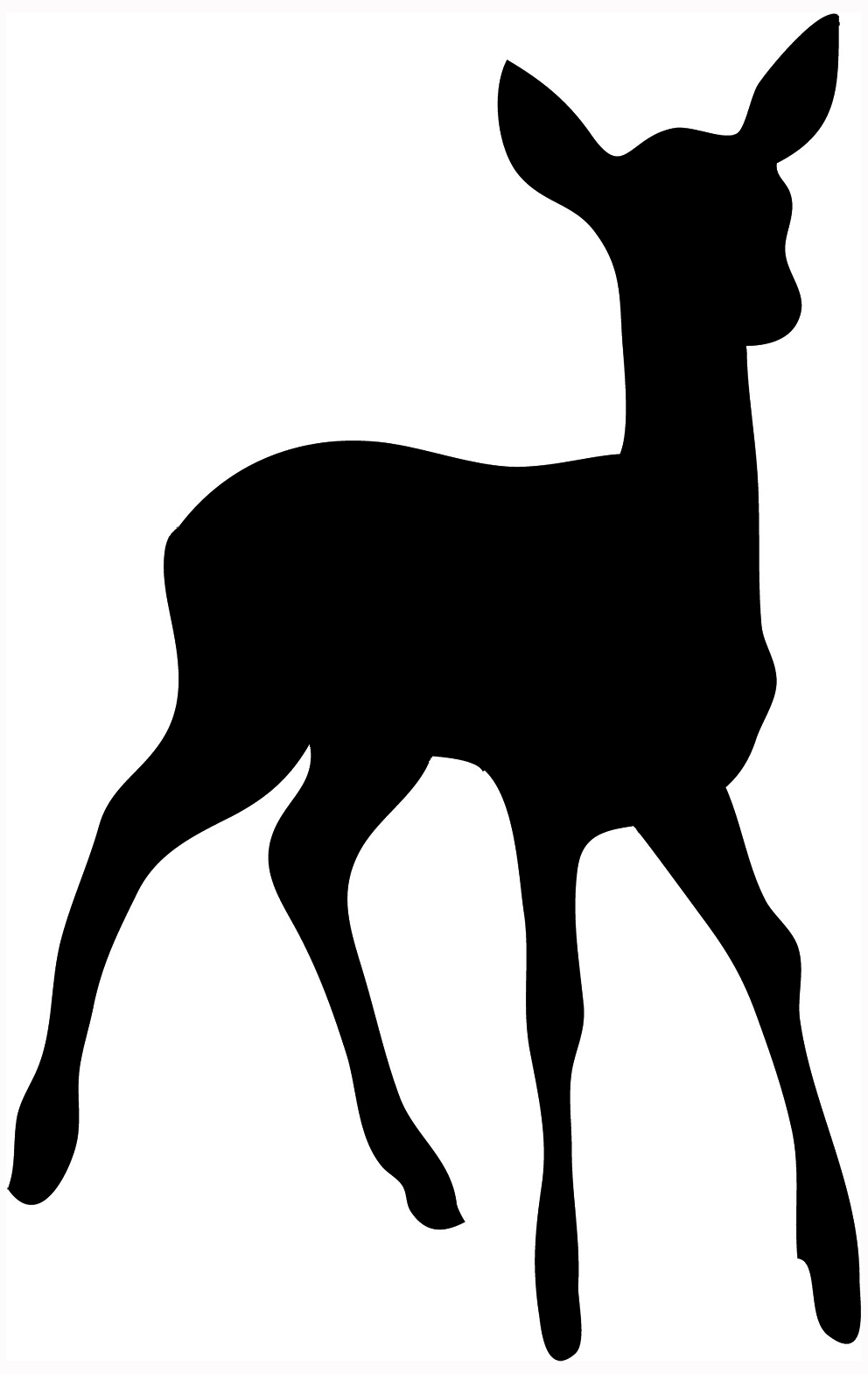 Deer clipart silhouette clipart royalty free library Free Animal Silhouettes, Download Free Clip Art, Free Clip Art on ... clipart royalty free library