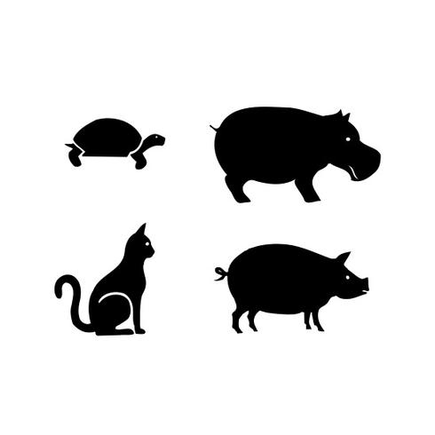 Animal clipart black silhouette jpg black and white stock Free Animal Silhouettes Vector - Download Free Vector Art, Stock ... jpg black and white stock