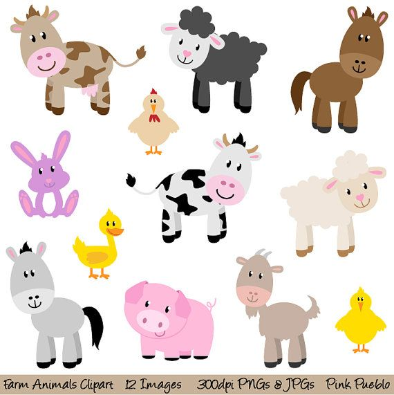 Animal clipart clipart graphic black and white Free Farm Animal Clipart & Farm Animal Clip Art Images ... graphic black and white