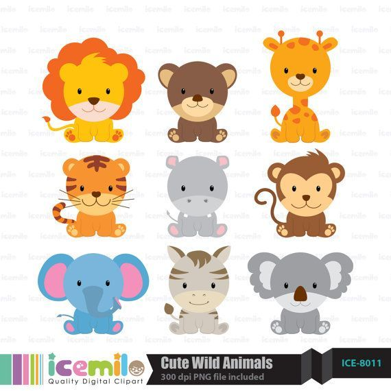 Wild animal cliparts vector transparent library Free download Cute Wild Animal Clipart for your creation. | cute ... vector transparent library