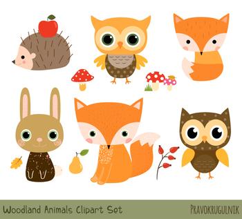 Woodland animal babies clipart clip download Cute Woodland Animal Clipart, Forest Animal Clip Art Set, Baby Fox Hedgehog  Owl clip download