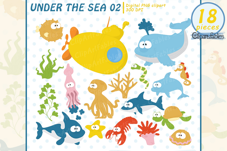 Animal clipart design vector library Sea animals clip art, Nautical clipart, ocean theme design vector library