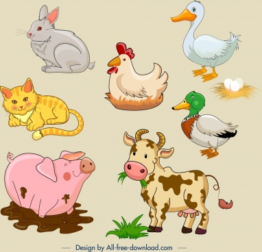 Cute farm animal clipart free library Farm animal clip art free vector download (220,871 Free vector) for ... free library